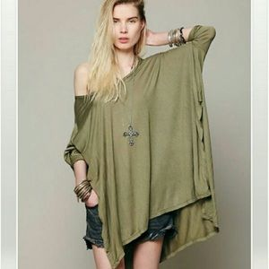 Free People Big Dipper Oversized Shirt
